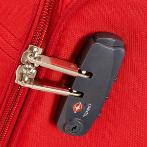Samsonite Base Boost Spinner Carry-On in Red TSA lock