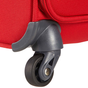 Samsonite Base Boost Spinner Carry-On in Red wheels