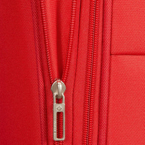 Samsonite Base Boost Large Spinner in Red zippered expansion