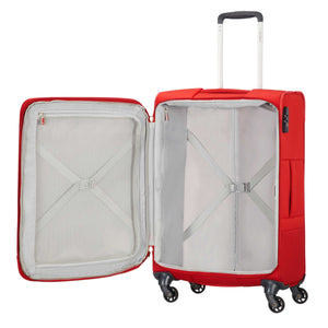 Samsonite Base Boost Spinner Medium Expandable in Red inside view