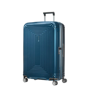 "Samsonite Neopulse Spinner Large 28"" in Metallic Blue front view"