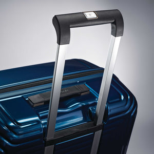 "Samsonite Neopulse Spinner Large 28"" in Metallic Blue pull handle"