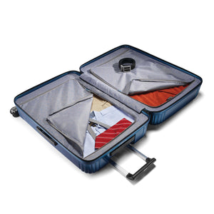 "Samsonite Neopulse Spinner Large 28"" in Metallic Blue inside view"