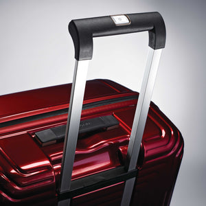 "Samsonite Neopulse Spinner Large 28"" in Metallic Red pull handle"