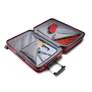 "Samsonite Neopulse Spinner Large 28"" in Metallic Red inside view"