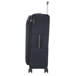 Samsonite Popsoda Spinner Large Expandable in Dark Blue side view