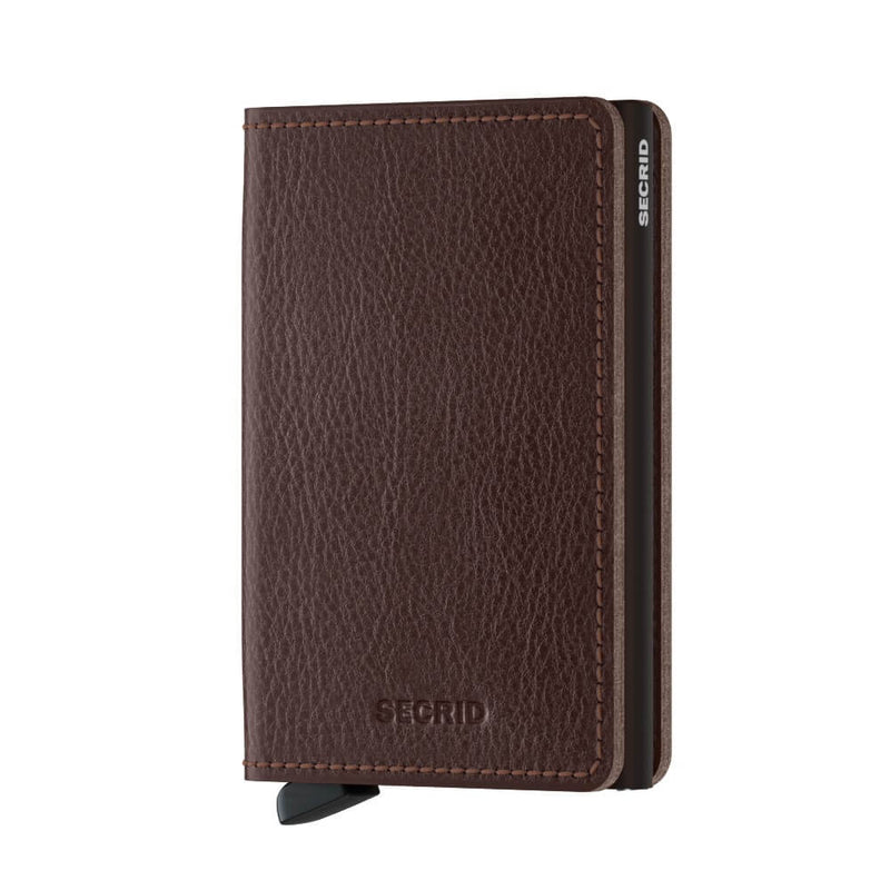 Secrid Slimwallet Veg in Espresso-Brown front view