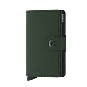 Secrid Wallets Miniwallet Matte in colour Green - Forero's Bags and Luggage Vancouver Richmond