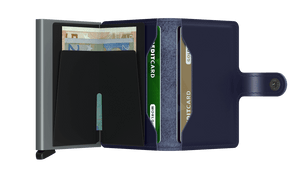 Secrid Wallets Miniwallet Metallic in colour Blue - Forero's Bags and Luggage Vancouver Richmond