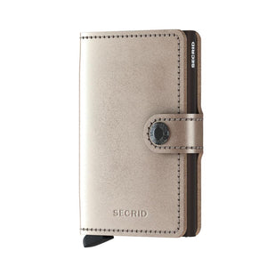 Secrid Wallets Miniwallet Metallic in colour Champagne Brown - Forero's Vancouver Richmond