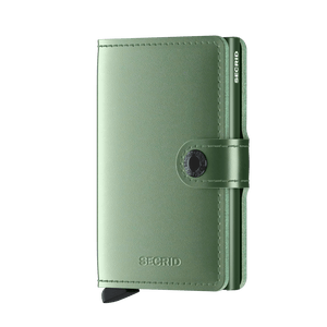 Secrid Wallets Miniwallet Metallic in colour Green - Forero's Bags and Luggage Vancouver Richmond