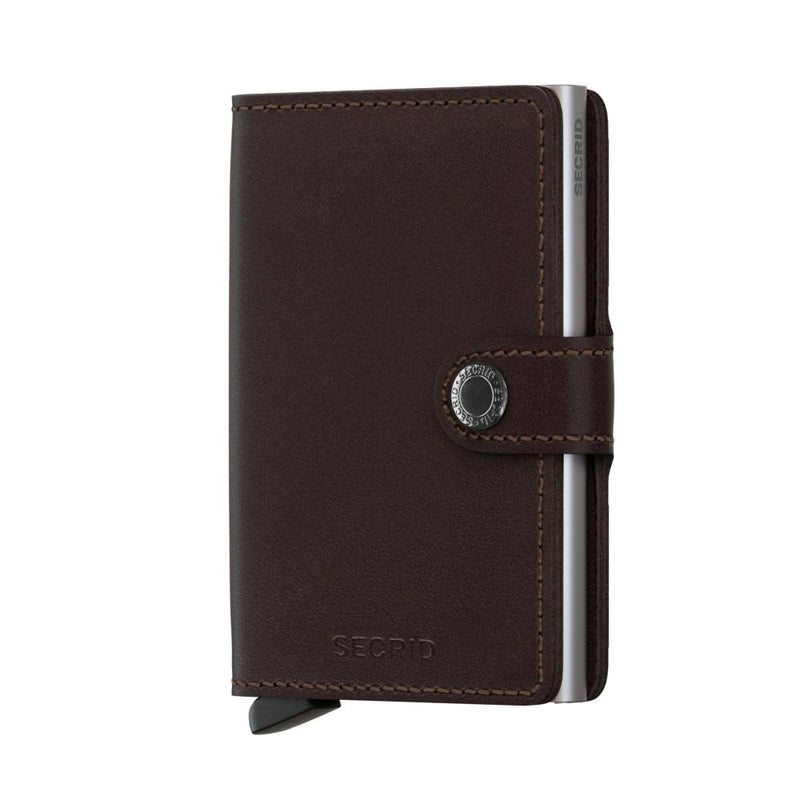 Secrid Wallets Miniwallet Original in colour Dark Brown - Forero's Bags and Luggage Vancouver Richmond