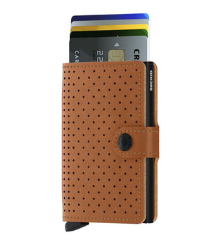 Secrid Miniwallet Perforated Cognac - cards up