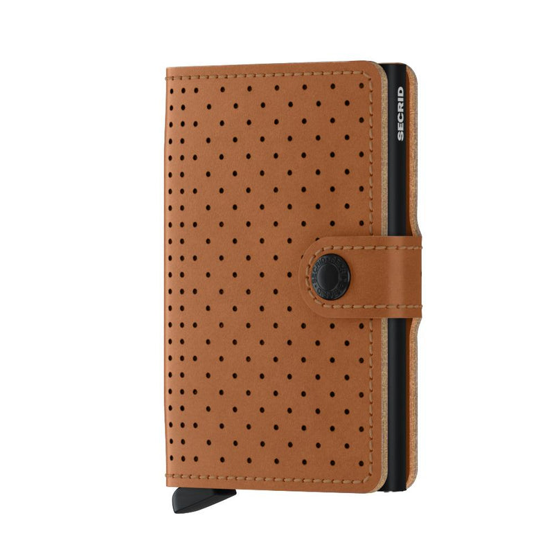 Secrid Wallets Miniwallet Perforated in colour Cognac - Forero's Bags and Luggage Vancouver Richmond