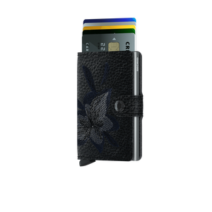 Secrid Miniwallet Stitch Magnolia Black - cards up