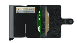 Secrid Miniwallet Stitch Magnolia Black - open