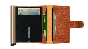 Secrid Wallets Miniwallet Vegetable Tanned in colour Caramello Sand - Forero's Bags and Luggage Vancouver Richmond