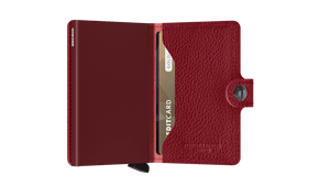 Secrid Wallets Miniwallet Vegetable Tanned in colour Rosso Bordeaux - Forero's Bags and Luggage Vancouver Richmond