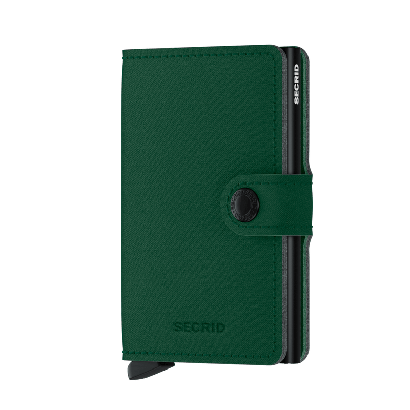 Secrid Wallets Miniwallet Yard in colour Green - Forero's Bags and Luggage Vancouver Richmond