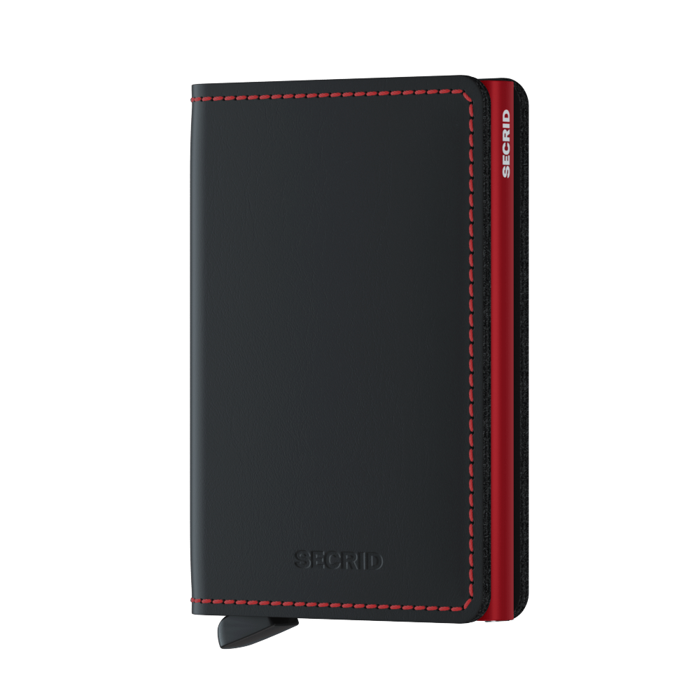 Secrid Wallets Slimwallet Matte in Black & Red - Forero's Vancouver Richmond