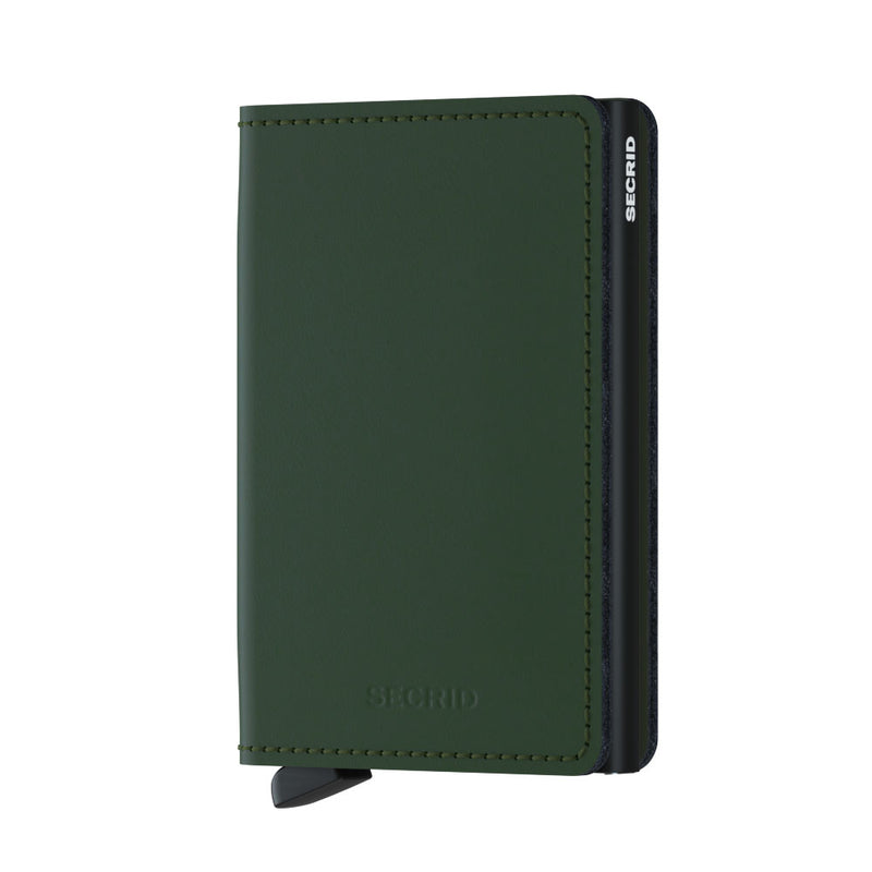 Secrid Wallets Slimwallet Matte in colour Green - Forero's Bags and Luggage Vancouver Richmond