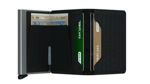Secrid Wallets Slimwallet Optical in colour Black Titanium - Forero's Bags and Luggage Vancouver Richmond