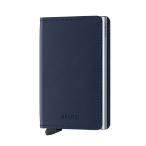Secrid Wallets Slimwallet Original in colour Navy - Forero's Bags and Luggage Vancouver Richmond