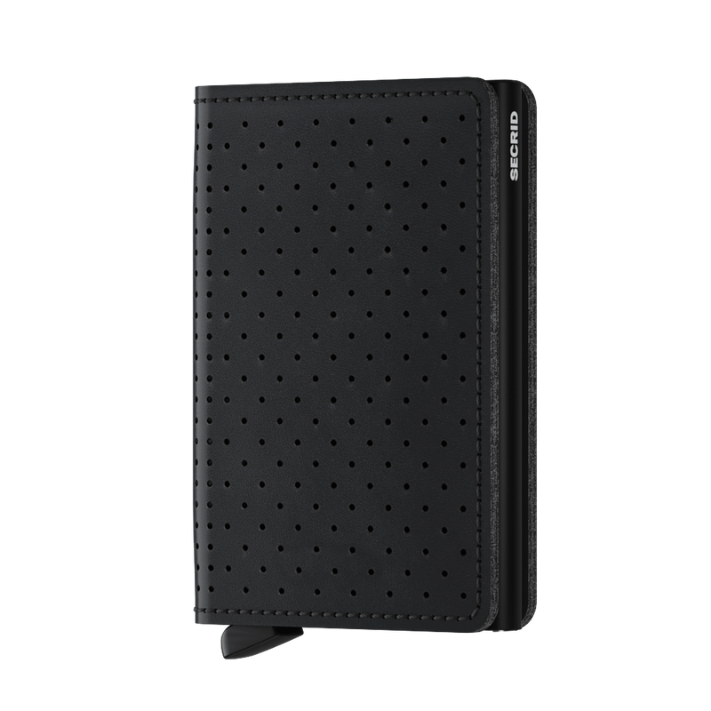 Secrid Slimwallet Perforated Black - front