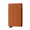 Secrid Wallets Slimwallet Perforated in Cognac - Forero's Bags and Luggage Vancouver Richmond