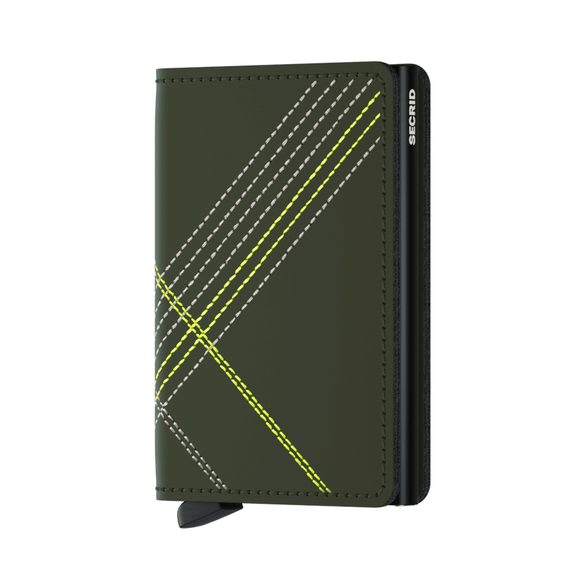 Secrid Wallets Slimwallet Stitch Linea in colour Lime - Forero's Vancouver Richmond