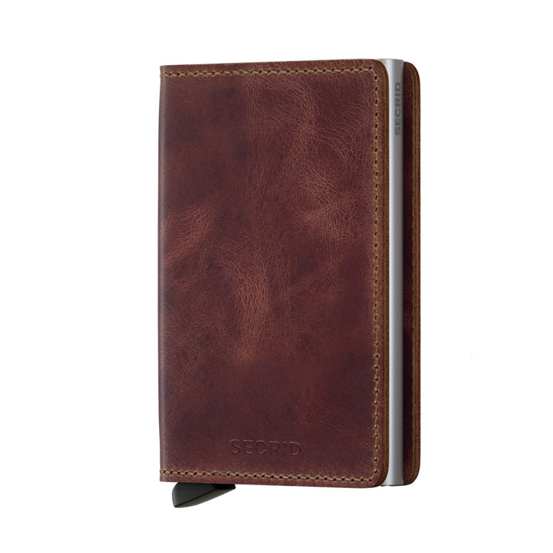 Secrid Slimwallet Vintage Brown - cards up