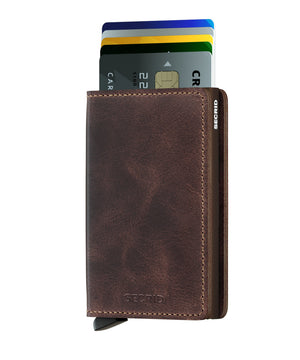 Secrid Slimwallet Vintage Chocolate - cards up