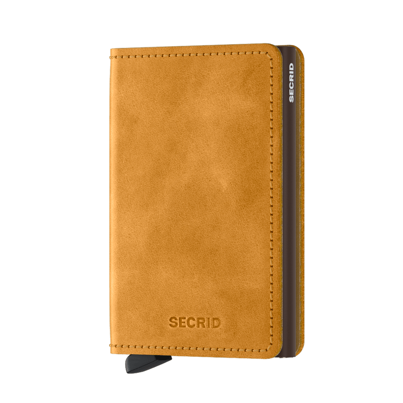 Secrid Wallets Slimwallet Vintage in colour Ochre - Forero's Bags and Luggage Vancouver Richmond