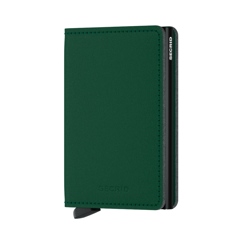 Secrid Wallets Slimwallet Yard in colour Green - Forero's Bags and Luggage Vancouver Richmond