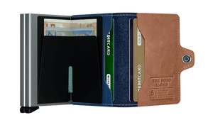 Secrid Wallets Twinwallet Indigo 5 in colour Titanium - Forero's Bags and Luggage Vancouver Richmond