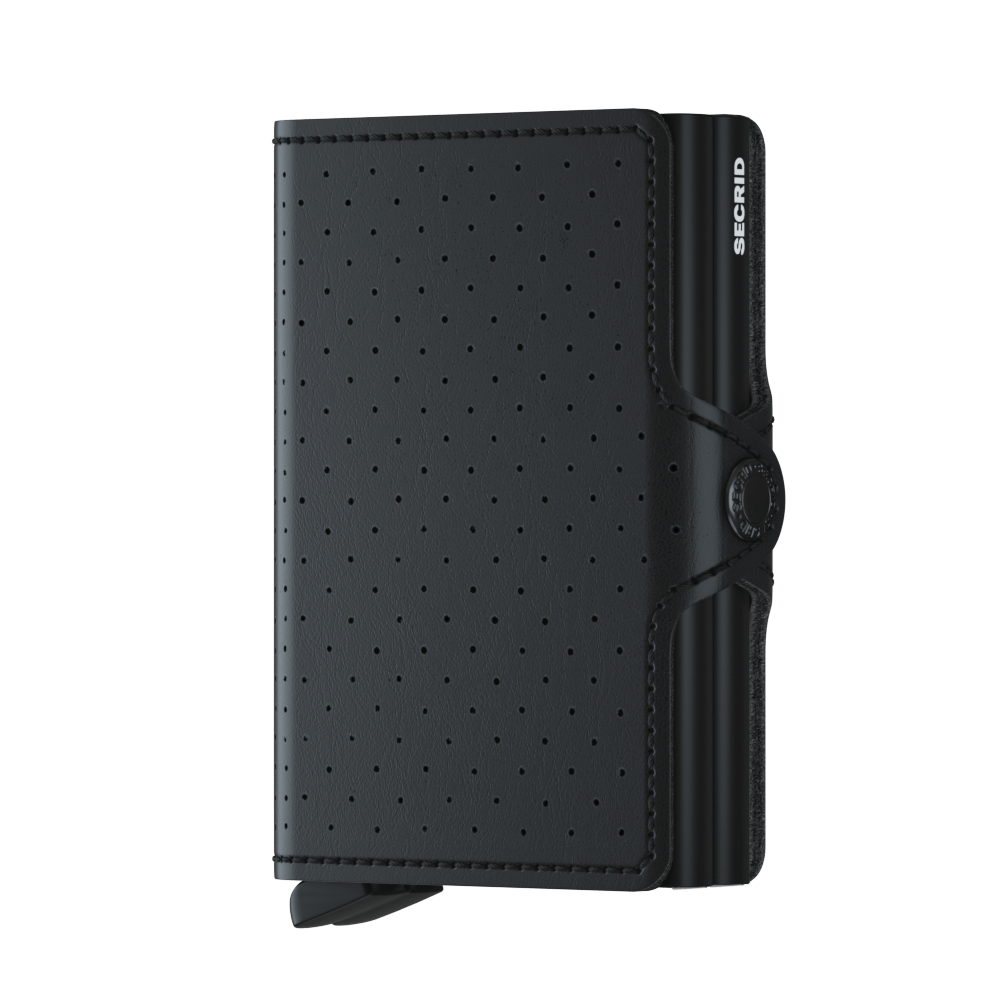 Secrid Wallets Twinwallet Perforated in Black - Forero's Vancouver Richmond