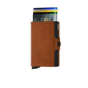 Secrid Twinwallet Perforated Cognac - cards up