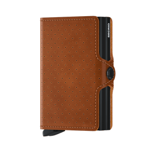 Secrid Twinwallet Perforated Cognac - front