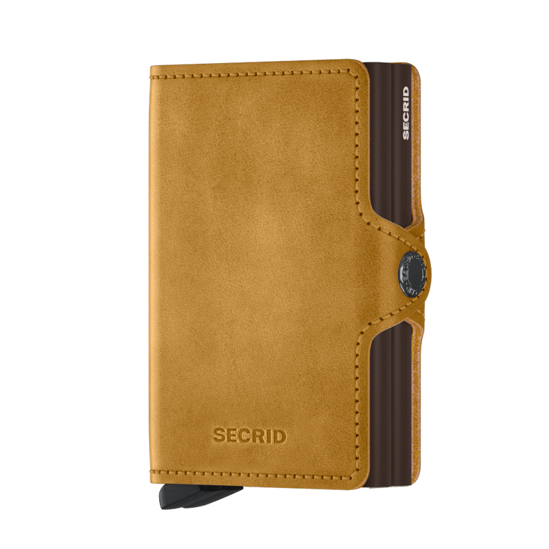 Secrid Wallets Twinwallet Vintage in colour Ochre - Forero's Bags and Luggage Vancouver Richmond