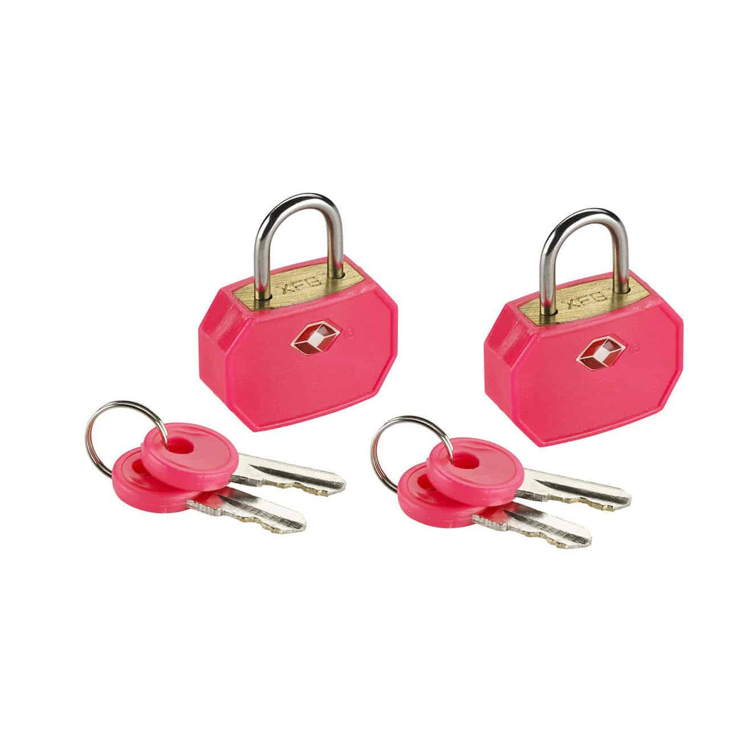 Lewis N Clark TSA Approved Mini Padlock Set pink foreros bags and luggage vancouver richmond