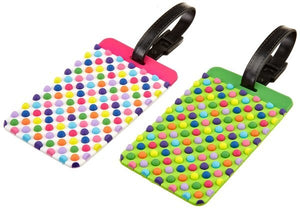 Set of 2 Luggage Tags - Dots - Forero's Bags and Luggage