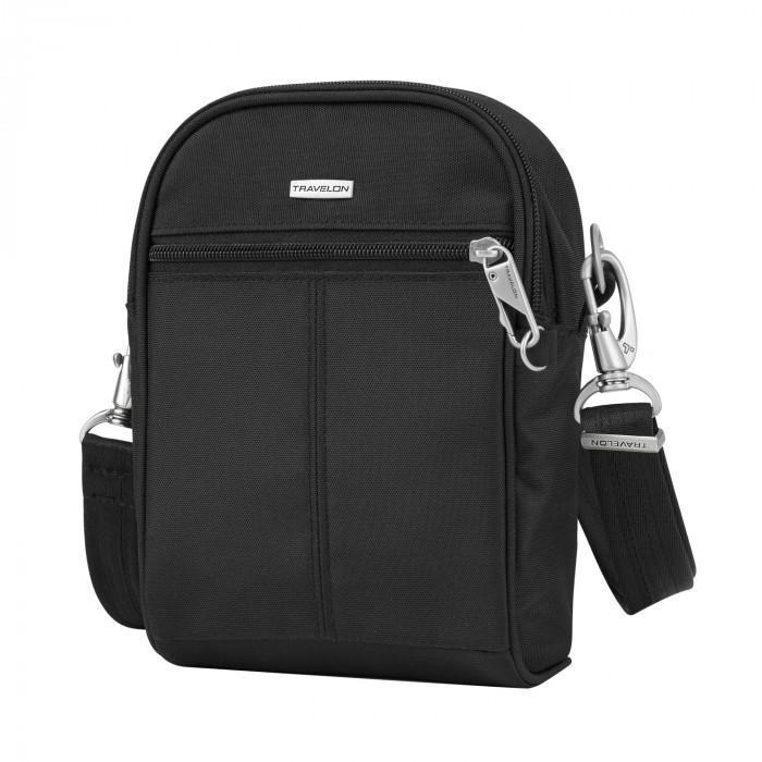 Travelon Anti-Theft Classic Convertible Small Tour Bag in colour Black - Forero's Vancouver Richmond