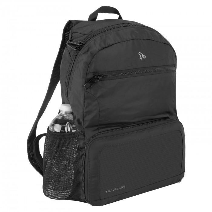 Travelon Anti-Theft Active Packable Backpack in colour Black- Forero's Bags and Luggage Vancouver Richmond
