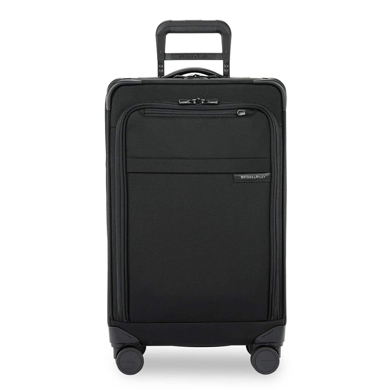 Briggs & Riley Baseline Medium Expandable Trunk Spinner in Black front view