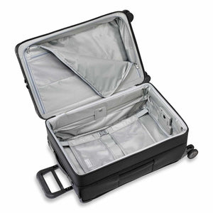 Briggs & Riley Baseline Medium Expandable Trunk Spinner in Black inside view