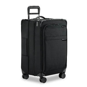 Briggs & Riley Baseline Medium Expandable Trunk Spinner in Black side view