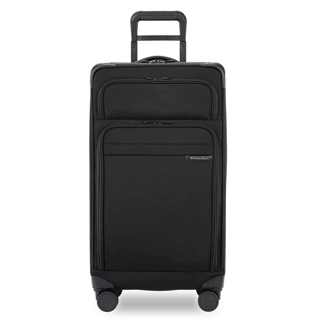 Briggs & Riley Baseline Large Expandable Trunk Spinner in Black front view