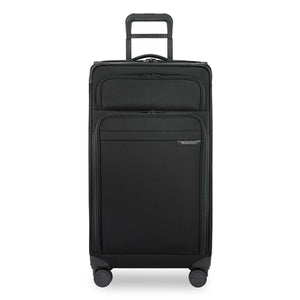 Briggs & Riley Baseline Extra Large Expandable Trunk Spinner in Black front view