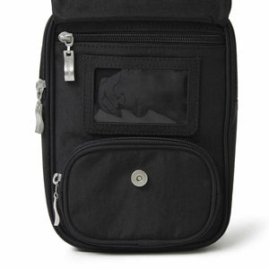 Baggallini RFID Journey Crossbody in Black ID window