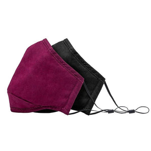 BondStreet 2-Pack Adult Face Masks in Burgundy & Black